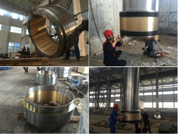 36000T大型液压油缸维修过程